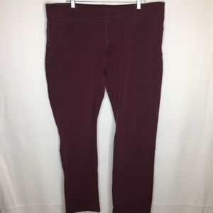 Chaps 20w Wine/ burgundy skinny jeans stretch